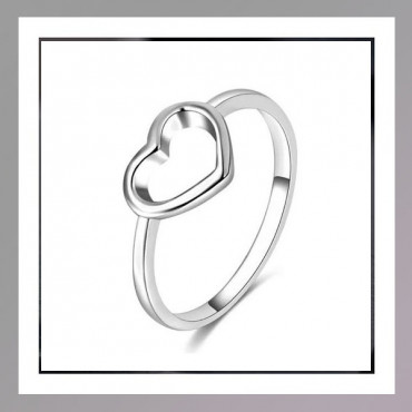 Silver Coloured Heart Ring